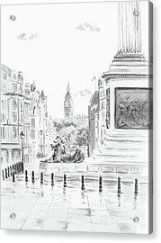 Acrylic Print featuring the digital art Trafalgar Square II by Elizabeth Lock