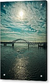 Traffic On The Bridge Acrylic Print by Michel Filion