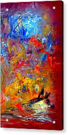 Tragedy  At  Sea -  Sydney To Hobart Acrylic Print