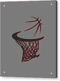Trail Blazers Basketball Hoop Acrylic Print by Joe Hamilton