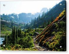 Trail In Mountains Acrylic Print