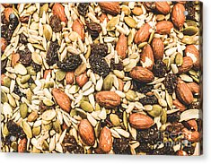 Acrylic Print featuring the photograph Trail Mix Background by Jorgo Photography - Wall Art Gallery