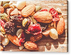 Trail Mix High-energy Snack Food Background Acrylic Print by Jorgo Photography - Wall Art Gallery