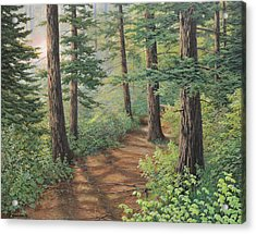 Trail Of Green Acrylic Print