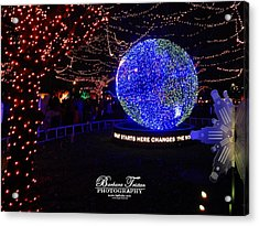 Trail Of Lights World #7359 Acrylic Print by Barbara Tristan