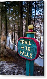 Trail To Falls Acrylic Print by Carlos Ruiz