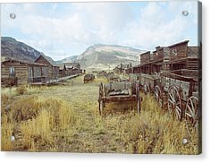 Trail Town Wyoming Acrylic Print by Brent Easley