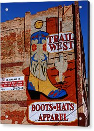 Trail West Mural Acrylic Print by Susanne Van Hulst