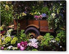 Trailer Full Of Flowers Acrylic Print