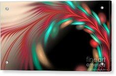 Acrylic Print featuring the digital art Trailing Hearts by Sandra Bauser Digital Art