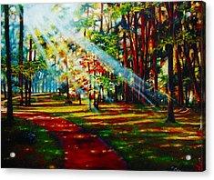 Trails Of Light Acrylic Print