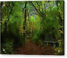 Trailside Bench Acrylic Print