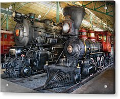 Train - Engine - Steam Locomotives Acrylic Print by Mike Savad