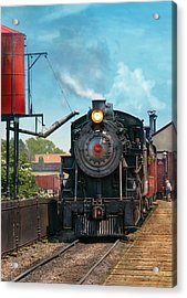 Train - Engine - Strasburg Number 9 Acrylic Print by Mike Savad