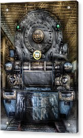 Train - Engine -1218 - Norfolk Western Class A - 1218 - Front View Acrylic Print by Mike Savad