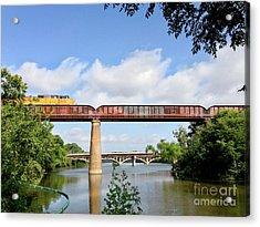 Train Across Lady Bird Lake Acrylic Print