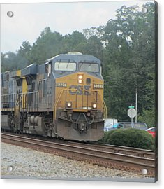 Train At Folkston 2 Acrylic Print