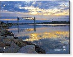 Train Bridge Sunrise  Acrylic Print