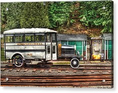 Train - Car - The Rail Bus Acrylic Print by Mike Savad