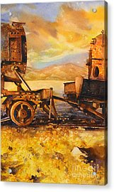 Train Cemetary- Salar De Uyuni, Bolivia Acrylic Print by Ryan Fox