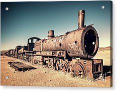 Train Cemetery In Uyuni, Bolivia Acrylic Print