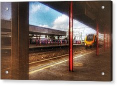 Acrylic Print featuring the photograph Train Coming In by Isabella F Abbie Shores FRSA