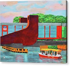 Train Over The New River Acrylic Print