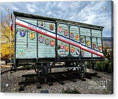 Acrylic Print featuring the photograph Train De La Reconnaissance Francaise - Ogden - Utah by Gary Whitton