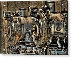 Train - Engine - Brothers Forever Acrylic Print by Mike Savad