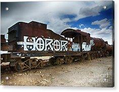 Train Graveyard Uyuni Bolivia 13 Acrylic Print