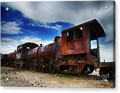 Train Graveyard Uyuni Bolivia 15 Acrylic Print