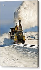 Train In Winter Acrylic Print