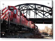 Train Acrylic Print by John Rizzuto