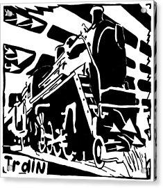 Train Maze Acrylic Print by Yonatan Frimer Maze Artist
