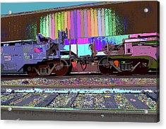Train Parked Acrylic Print