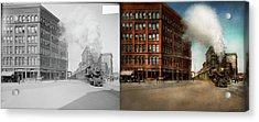 Train - Respect The Train 1905 - Side By Side Acrylic Print by Mike Savad