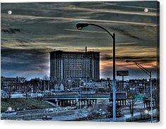 Train Station Detroit Mi Acrylic Print