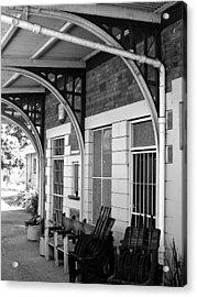 Train Station2 Acrylic Print by Bridgette  Allan