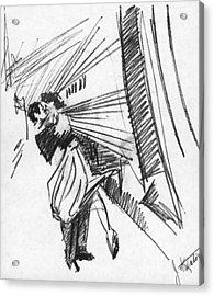 Train Stop Acrylic Print by John Keaton
