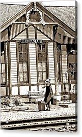 Train Stop Acrylic Print by William Furguson