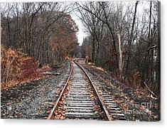 Train Tracks Acrylic Print by John Rizzuto