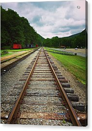 Train Tracks Acrylic Print by Linda Sannuti