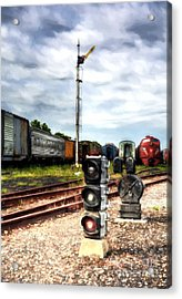 Train Traffic Signals Acrylic Print