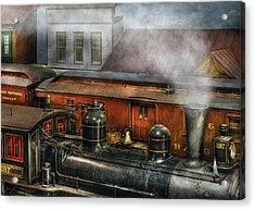 Train - Yard - The Train Yard II Acrylic Print by Mike Savad