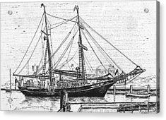 Training Ship Tabor Boy At Woods Hole Town Dock Acrylic Print