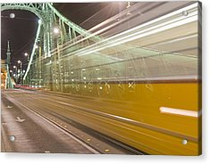 Tram In Budapest Acrylic Print by Kobby Dagan