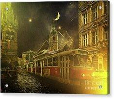 Tramatic - Prague Street Scene Acrylic Print