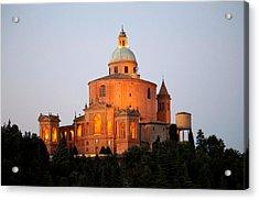 Acrylic Print featuring the photograph Tramonto Su San Luca, Bologna by Martina Uras