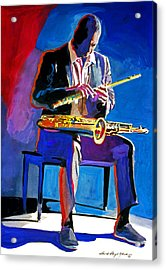 Trane - John Coltrane Acrylic Print by David Lloyd Glover
