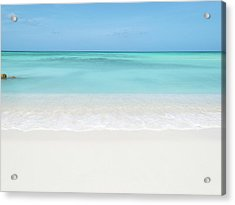 Tranquil Beach Acrylic Print by William Andrew